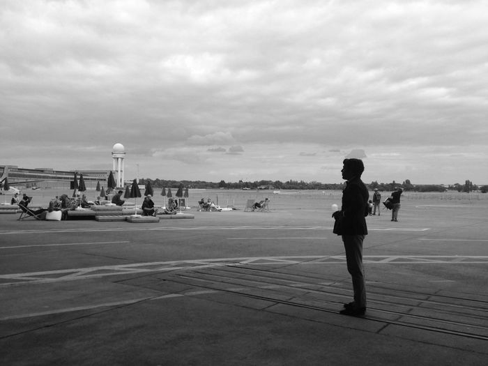 """Berlin, Tempelhofer Feld, bei der """"Bread and Butter"""" Tempelhofer Feld Allone  One One Man Black And White From Where I Stand The Fashionist - 2015 EyeEm Awards"""