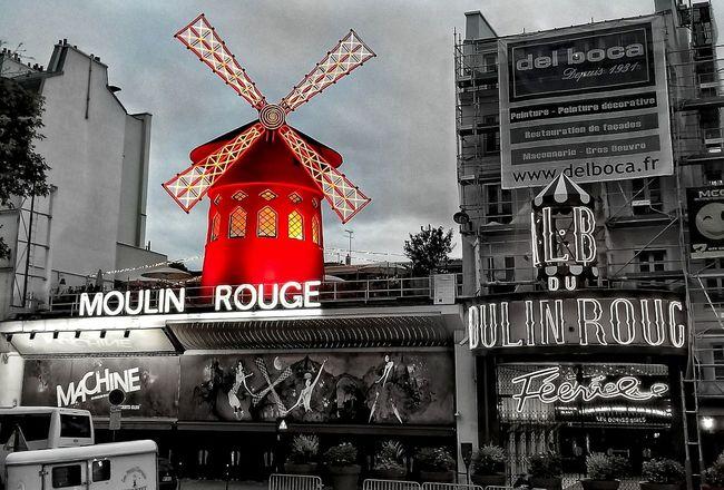 Paris Travel Destinations Rouge Red Color Moulin Rouge Moulinrouge Paris, France  Paris ❤