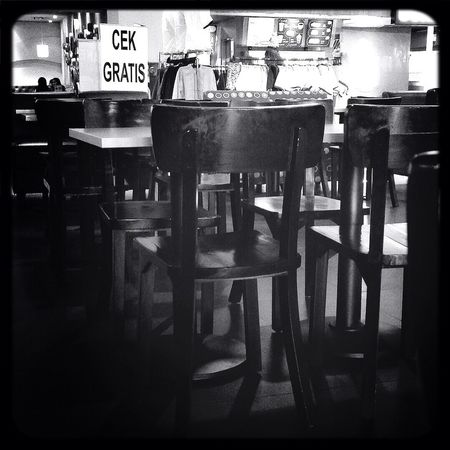 free & empty Hanging Out Cafe Time Coffee And Cigarettes Blackandwhite
