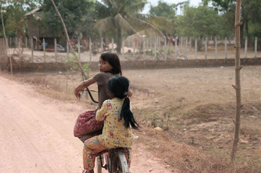 Cambodian Girl Cambodiangirl Cambodiangirls Bicycle Innocence Of Youth Innocent Face Kid Photography Rural Scene Farm Life