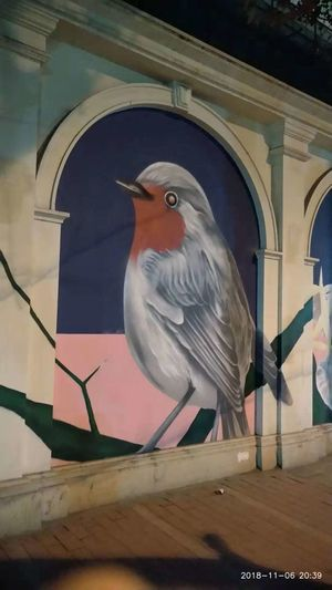 Street Art ~ Wall Painting in Shanghai. Edenmandom Shanghai, China Bird City Politics And Government