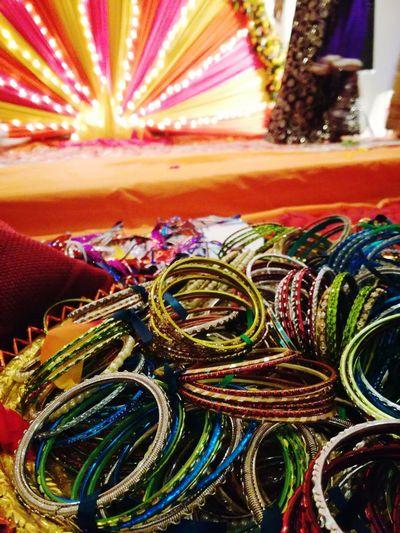 Multi Colored Indoors  Bangles Pakistani Wedding Lights