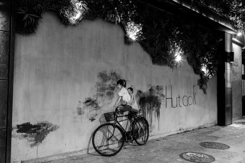 Art is Everywhere EyeEmSelect WeekOnEyeEm Architecture Bicycle Built Structure Leisure Activity Lifestyles Mode Of Transportation One Person Ride Transportation The Street Photographer - 2018 EyeEm Awards