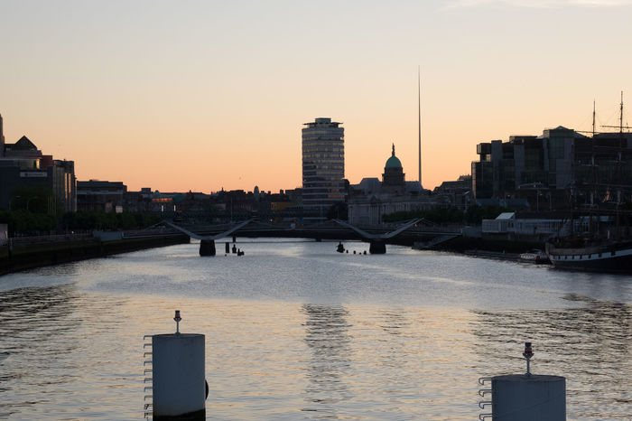 Dublin City Skyline Capital City Dublin Europe Ireland Liffey River