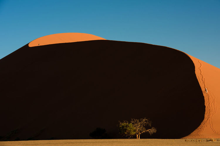 Clear Sky Curve De Desert Dune Dune45 EyeEm Landscape Heat - Temperature Namib Desert Namibia Nature No People Orange Color Sand Dune Sky Fresh On Market 2017