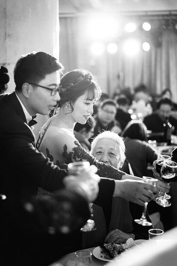 Indoors  People Real People Weddingday  Documentary Photography Black & White Winks