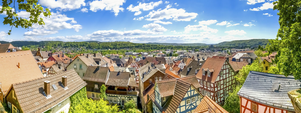 Marburg an der Lahn, Germany Castle Church Cityscape Marburg An Der Lahn Panorama Germany Hessen Landscape Marburg Nature Panorama View Timbered House