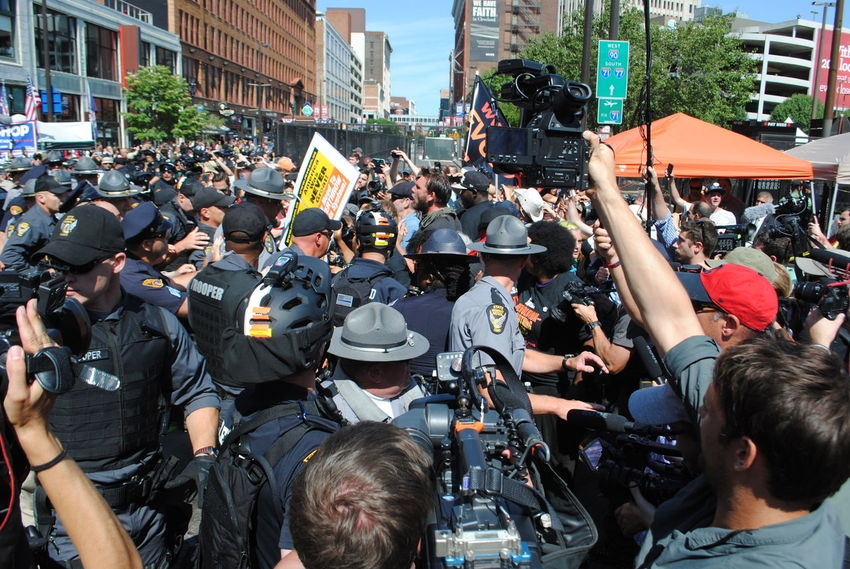 Flag burning protest - Day 3 Arrest Cameras Cleveland Documentary Photography Large Group Of People Law Enforcement Media Photo Series Police Protection Protest Protesters Protesting Republican National Convention 2016 RNC RNC2016 RNCinCLE Series Tellling Stories Differently Showcase July The Adventure Club The Photojournalist - 2017 EyeEm Awards The Street Photographer - 2017 EyeEm Awards