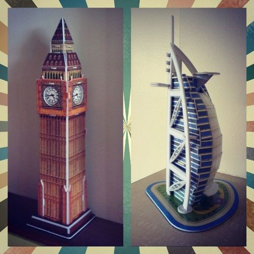 Building buildings 100happydays Day21 Cubicfun Alburj bigben oldandnew