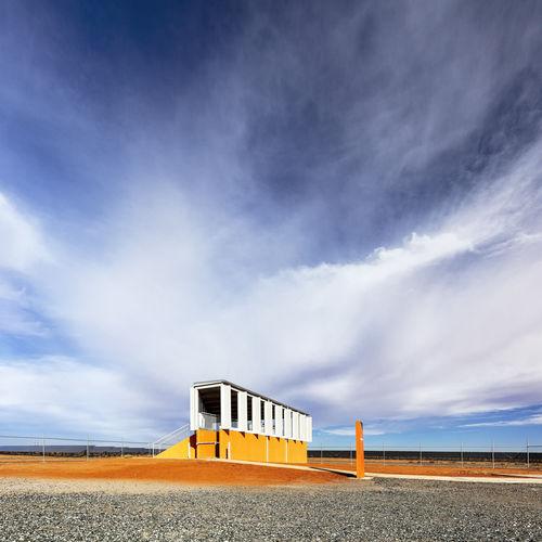 Architecture Blue Built Structure Cloud - Sky Day Landscape No People Orange Color Sky