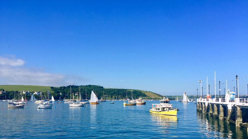 Boats Boats⛵️ Nautical Vessel Transportation Mode Of Transport Blue Clear Sky Tranquility Moored Boats And Water Boat Boating Boats And Moorings Boats And Sea Helford Boardwalk Boats Boats Boats Boat On Water Water Marina Waterfront Yellow Boat Yellow