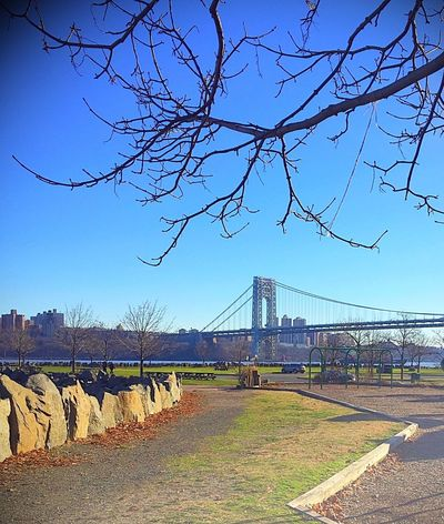 George Washington Bridge GWB Palisades Interstate Park Taking Photos Enjoying Life Outdoors Sunday Love George Washington Bridge Amazing View