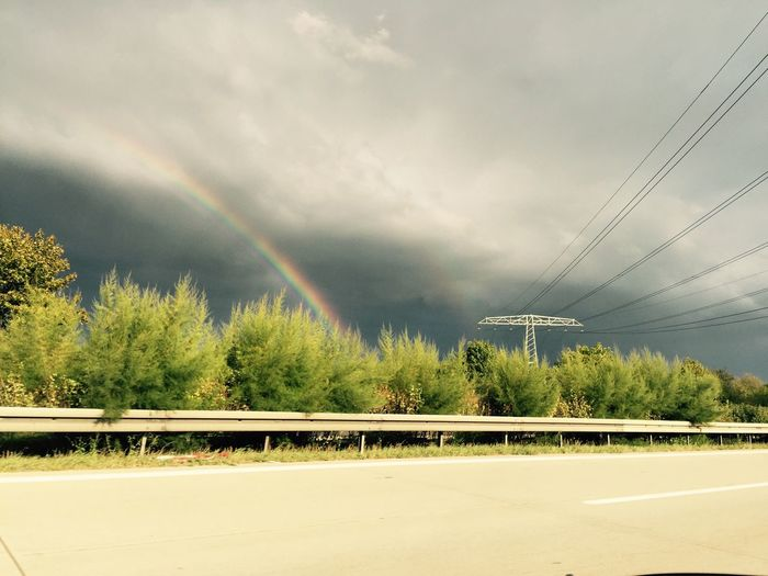Regenbogen,Gewitter, Impression