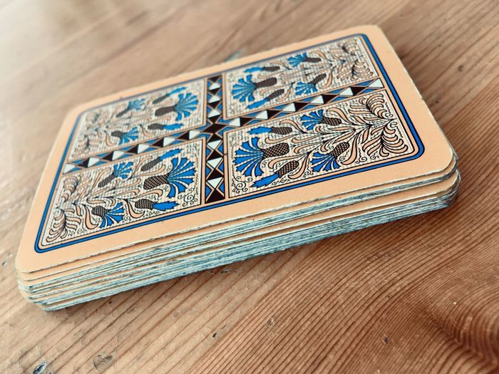 Altenburg Skat Cards Cards Game Game Table Wood - Material Indoors  Blue Close-up No People High Angle View Number Paper Currency Communication Still Life Single Object Pattern Design