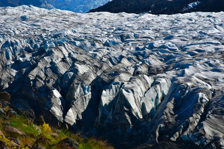 Scenic view of glacier ice