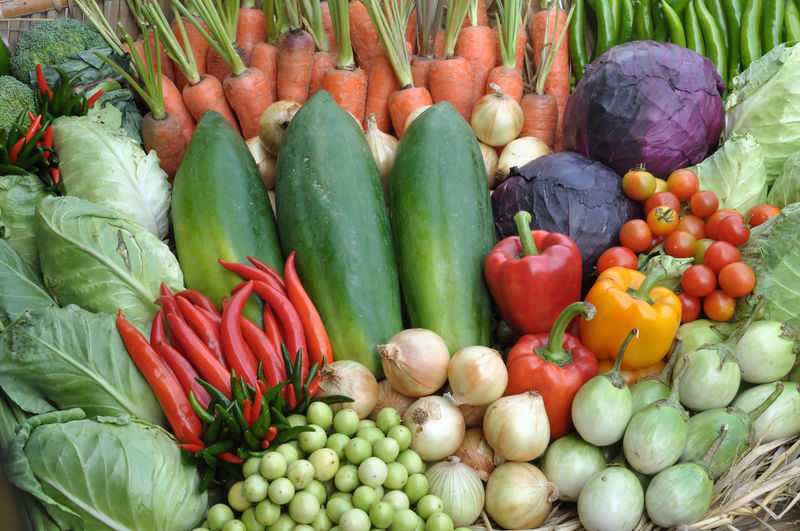 Full frame shot of vegetables for sale at market stall