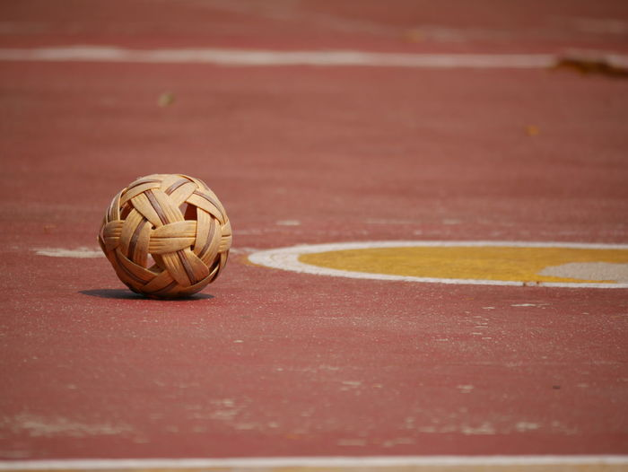 rattan ball is asian sport game Asian Sport Game Close-up Compatition Day Game No People Outdoors People Rattan Ball Relax Sky Sport ิball