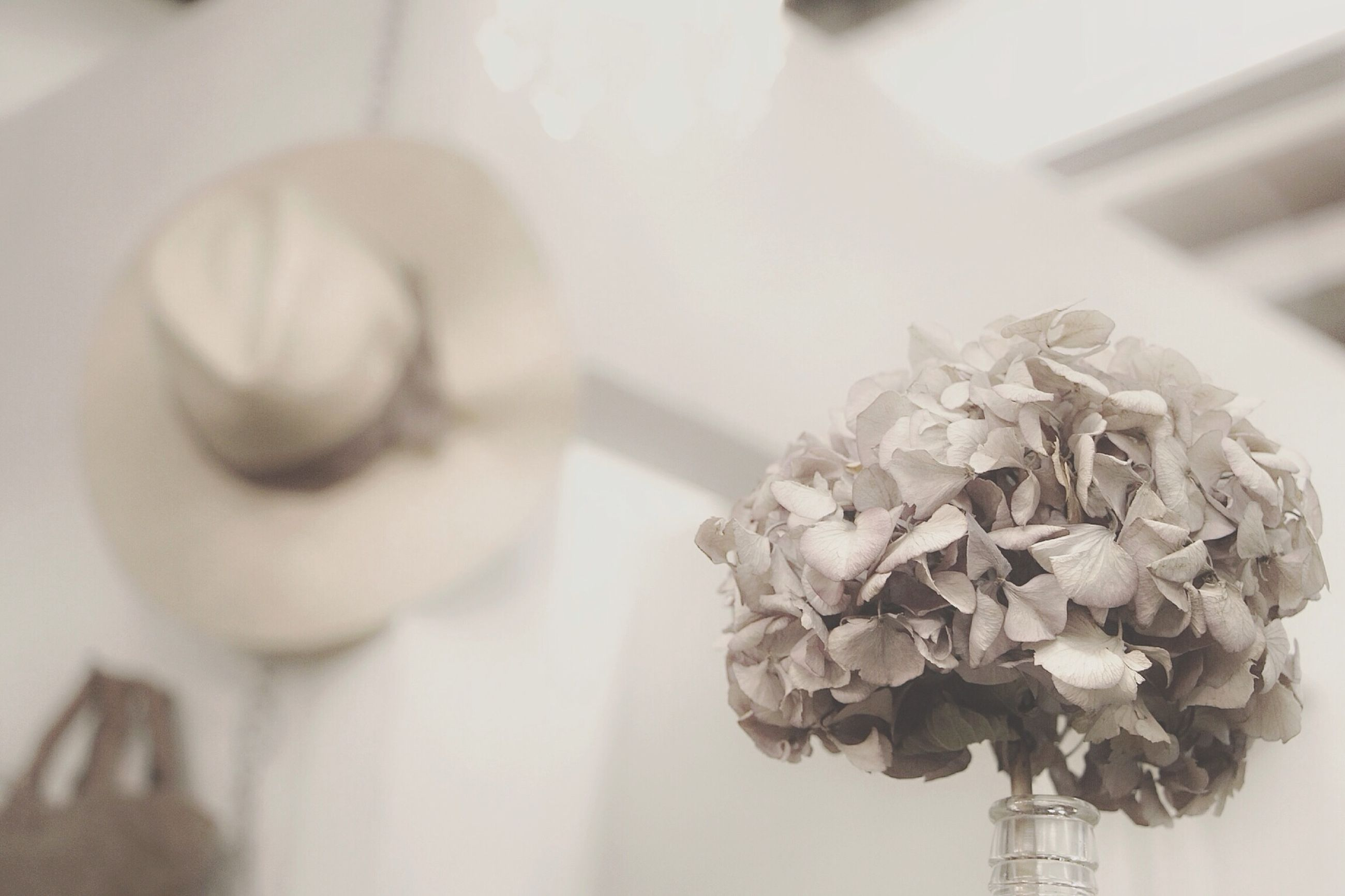 indoors, close-up, flower, focus on foreground, selective focus, still life, freshness, art and craft, no people, art, creativity, human representation, decoration, table, day, home interior, fragility, plant