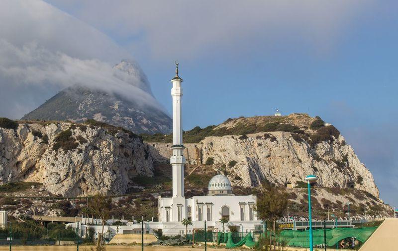 Ibrahim-al-ibrahim mosque at gibraltar against sky