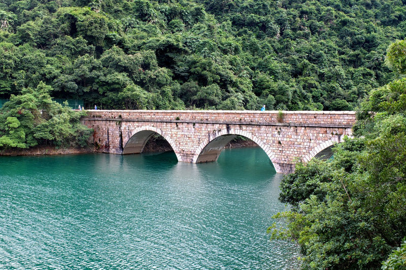 Arch Arch Bridge Architecture Bridge - Man Made Structure Built Structure Connection Green Color Nature Non-urban Scene Outdoors Reservoir River Scenics Tai Tam Reservoirs Tranquil Scene Tree Water My Year My View Finding New Frontiers
