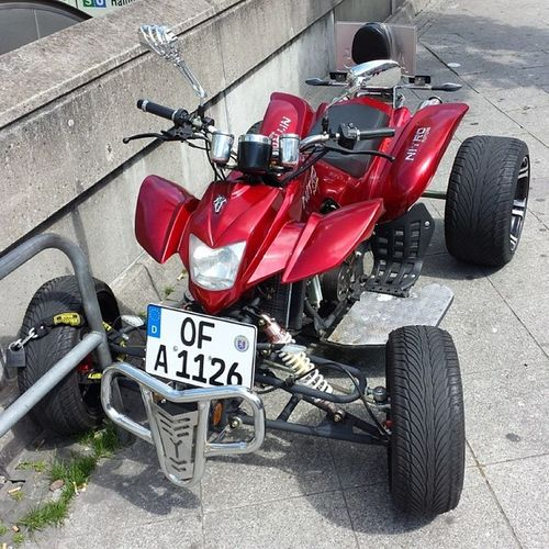 Today I saw this All-terrain vehicle downtown. Allterrain Vehicle Quad Downtown frankfurt