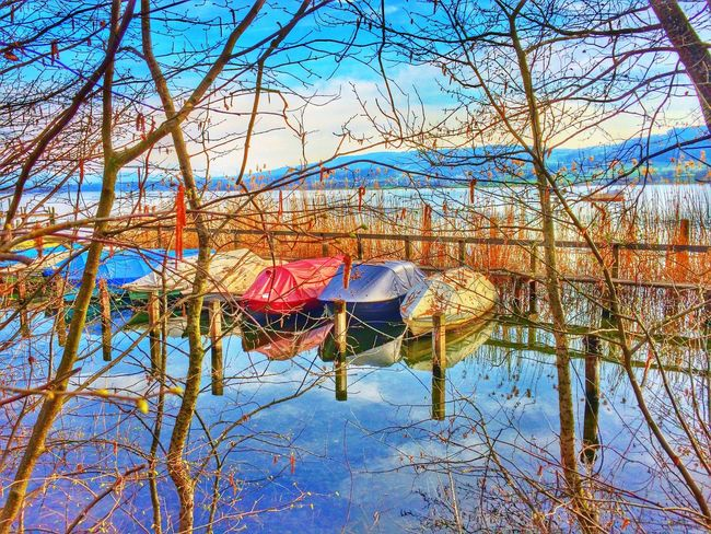 Hiding the boats HDR Landscape_Collection Lake EyeEmSwiss