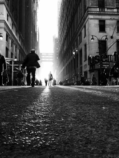 City Street Building Exterior City Life City Street Rear View Architecture People Outdoors Light Light And Shadow Lens Flare Blackandwhite TheMinimals (less Edit Juxt Photography)