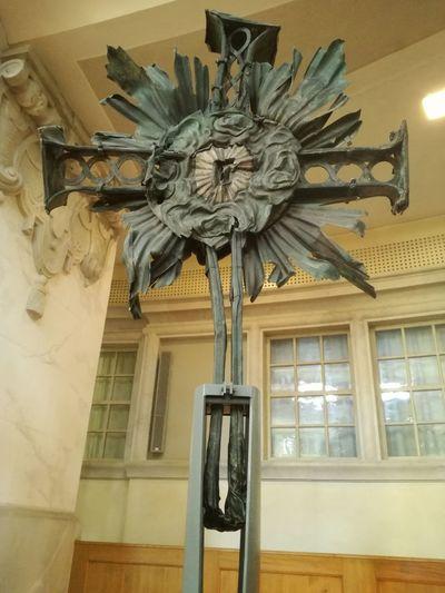 Old cross Frauenkirche Dresden Church Cross Metal Cross Statue Sculpture City History Architecture Built Structure