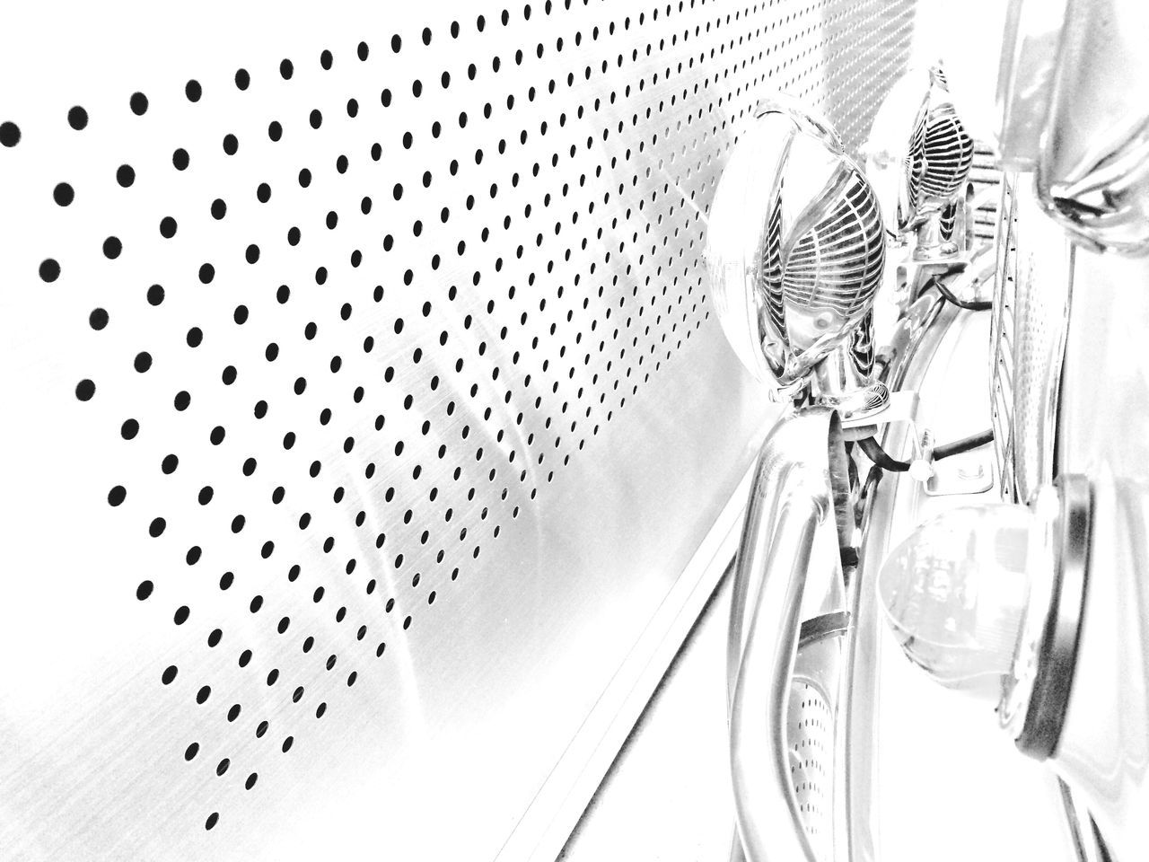 metal, no people, silver colored, silver - metal, close-up, indoors, day