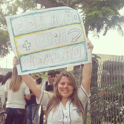 ManifestaçãoEstudantil FAETEC Cpii EscolasPúblicas @vemprarua por +educação!
