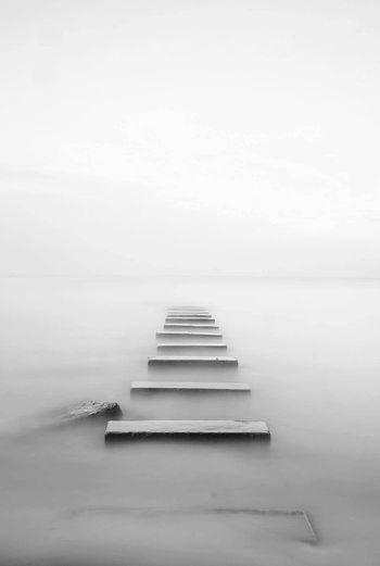 Stepping stones at sea