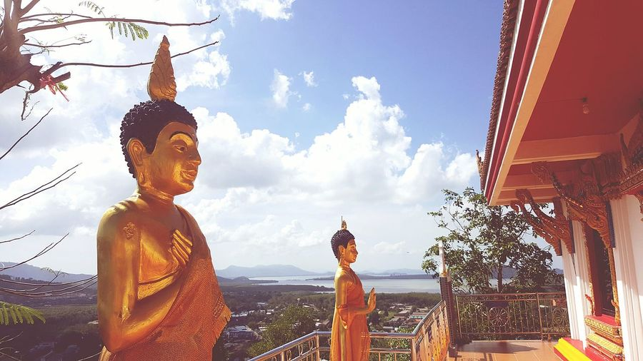 Holiday POV Would Sound Of Life Hi! Buddha Temple Hello World Thailand Phuket Happy