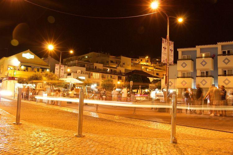 Lightpath Long Exposure Night Town