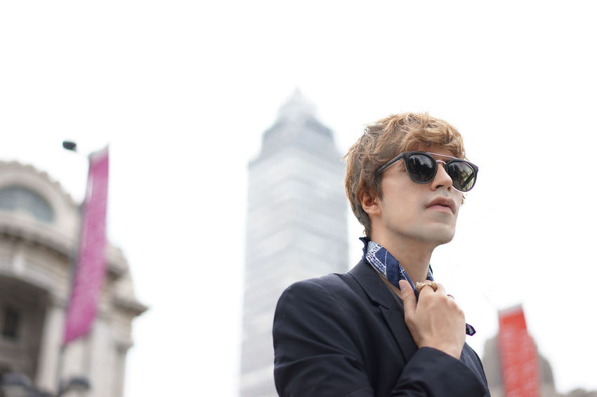 Guy and the city City Fashion Architecture Built Structure Day Low Angle View Outdoors Sky Sunglasses Well-dressed Young Adult