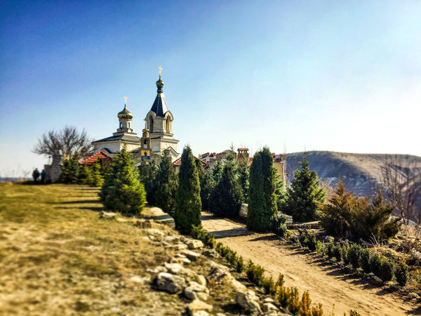 Moldova Architecture Built Structure Clear Sky Dome History Landscape Nature No People Orhei Outdoors Place Of Worship Religion Religion And Beliefs Sky Spirituality Travel Destinations