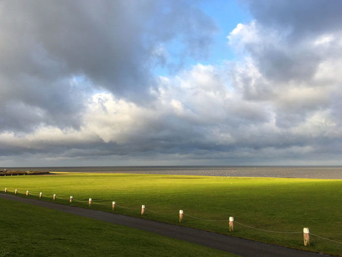 Nordsee, Norden-Norddeich, Germany Atmosphere Atmospheric Mood Cloud Cloudy Deich  Deutschland Dike Küste Nature Norddeich Norddeutschland Norden-Norddeich Nordsee Northsea Ocean Ostfriesland Outdoors Sky Landscapes With WhiteWall