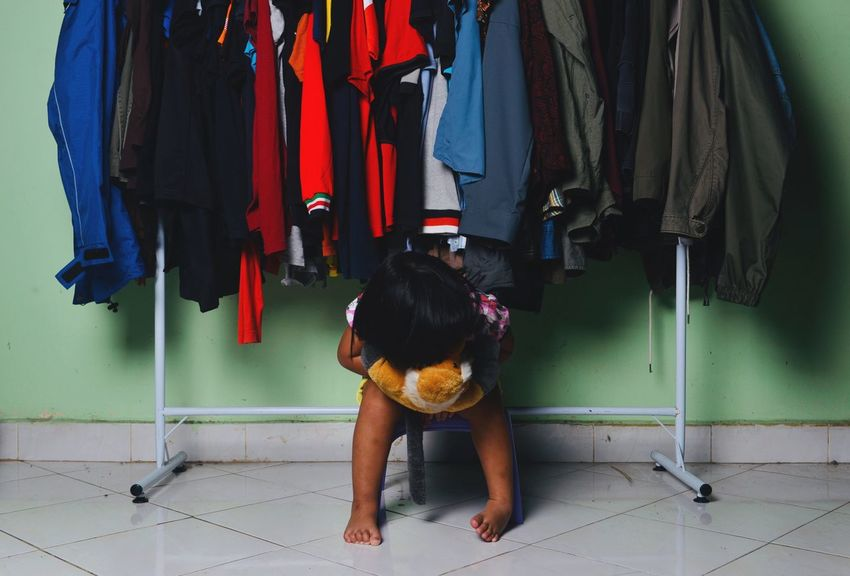 Full Length Clothing Real People Hanging People Casual Clothing A New Beginning Lifestyles Day Child Childhood Leisure Activity Standing Rear View A New Beginning EyeEmNewHere