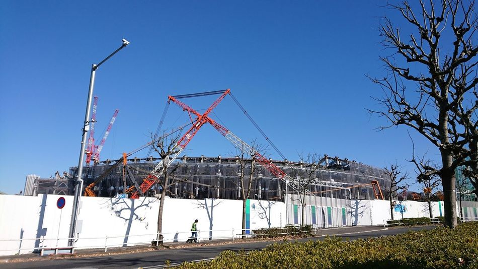 今年も見てきました♫ 新国立競技場 建設中 Under Construction New National Stadium Japan Looking Into The Future From My Point Of View Taking Photos Tokyo,Japan EyeEm 2018