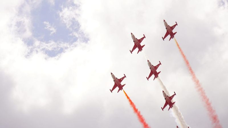 TEKNOFEST İSTANBUL Vapor Trail Aerobatics Airshow Fighter Plane Airplane Teamwork Flying Stunt Air Force Formation Flying EyeEmNewHere