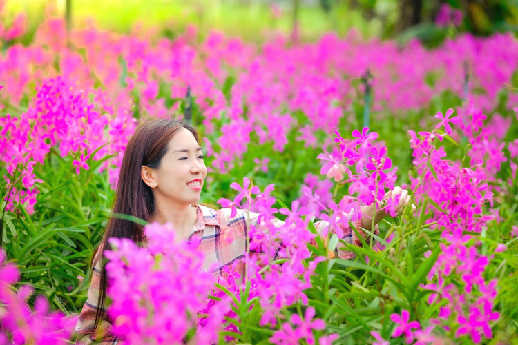 Agriculture Asian  Beautiful Beauty Bloom Blossom Botanical Business Care Color Colorful Cut Decor Decoration Farm Farming Female Flora Floral Flower Fresh Garden Gardener Gardening Girl Green Leaf Natural Nature Orchid Pattern Pink Plant Purple Spring Summer Thailand Tropical Violet Woman Young