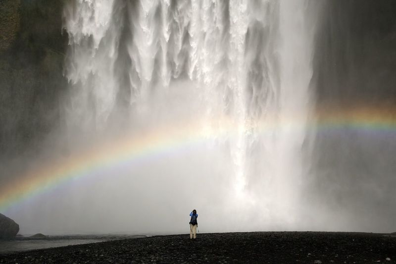 Water_collection NEM Submissions Amazing View Around The World By Lufthansa Deceptively Simple Raindrops Rainbow Iceland Water Waterfall