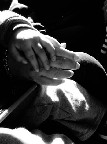 Mother's Love Holding Hands Mother And Son Motherhood Moments Precious Moments Of Life My Wife ❤ Blackandwhite Photography Hands Bonding MomsLove Childs Hand