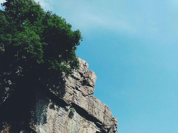 云台山 百家岩 Verde Azul Cielo China Style China Jiaozuo 焦作 河南 山 树 Viaje