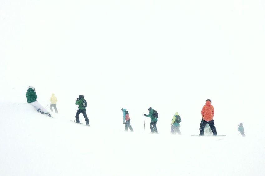 A whiteout while snowboarding on Scotland. Snowboarding Skiing Ski Snow Mountain Winter Scotland White Poor Visibility Glencoe