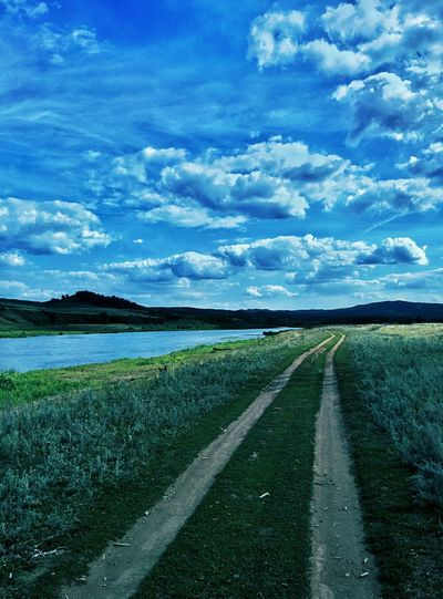 On The Road Road Nature Clouds Clouds And Sky River Salavat Bashkortostan