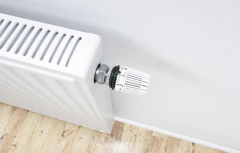 High angle view of radiator
