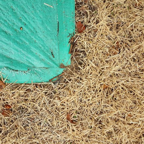 Cornered. Outdoors Textured  No People Day Backgrounds Close-up High Angle View Dried Tarp On Grass Beauty In Nature Eyeemphoto