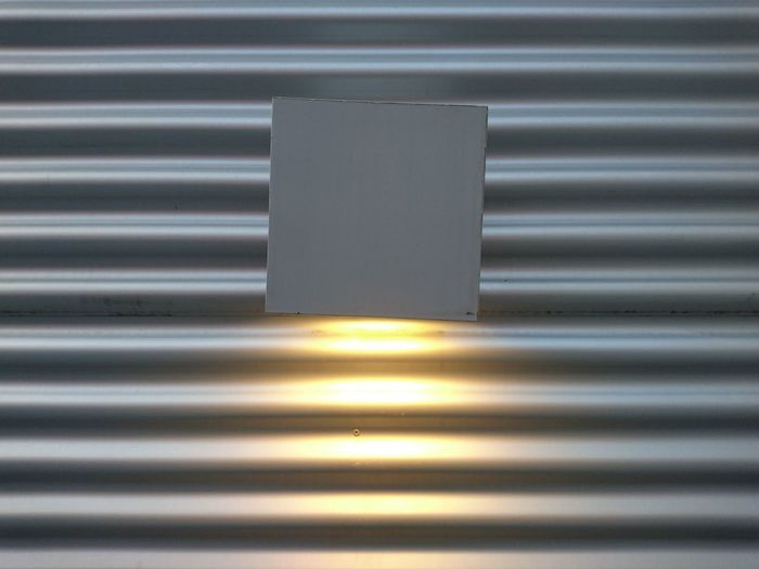 Light on the wall... Wall Metal Silver Colored Silver - Metal Backgrounds Pattern Gray Steel Close-up Aluminum Corrugated Iron Textured  No People Day Brushed Metal Light Lighting Equipment Lamp HUAWEI Photo Award: After Dark