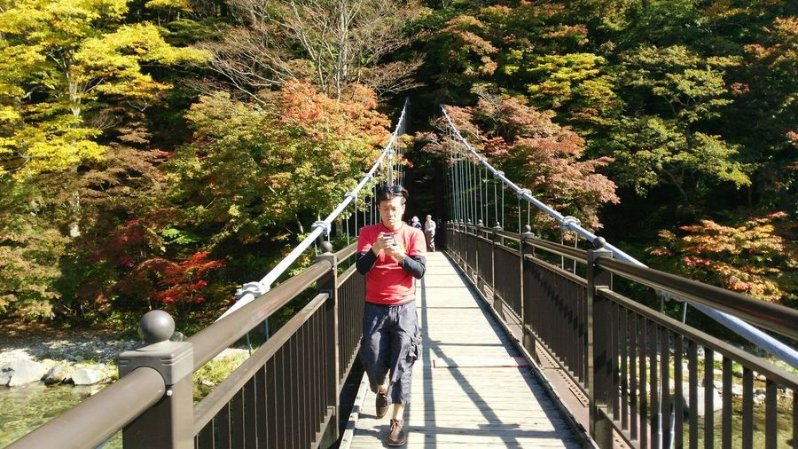 紅の吊橋 Red suspension bridge Don't Jump Sightseeing