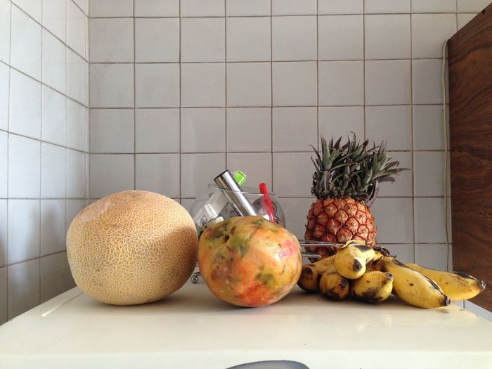 Fruits on table at home